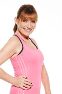 Lorraine Kelly in her gym gear