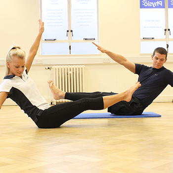 One-to-one Pilates balancing session