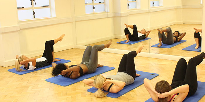 Stretches suitable for Bumplates classes being demonstrated