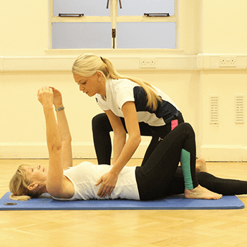 One to one session with core activation stretches